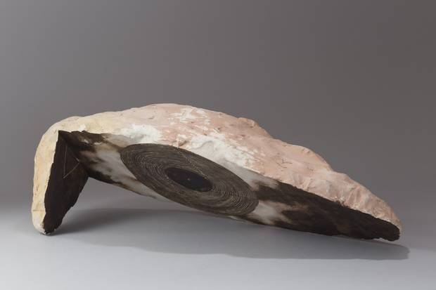 Mimbres, 1985, one of the first pieces on display, was inspired by the moulds he was using to create other shapes in the 1980s. Taimaz Moslemian