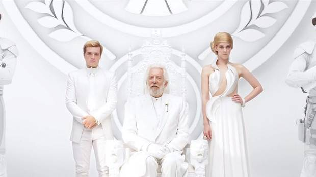 The Hunger Game The new trailer for Mockingjay – Part 1 shows President Snow addressing the people of Panem when his broadcast is hacked by rebels. Fans of the series will no doubt be salivating. The movie opens Nov. 21. (youtube.com)