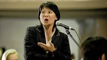 Olivia Chow speaks at a G20 briefing in April in Toronto. (Sarah Dea for The Globe and Mail)
