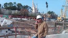 Construction Cleaners Group founder and chief executive officer John Radford on site at Walt Disney World's Fantasyland expansion, where his company is doing the cleaning. (COURTESY OF JOHN RADFORD)