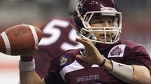 McMaster University Marauders' Kyle Quinlan is just one of many Canadian University prospects who hopes to crack a CFL lineup. FILE PHOTO: THE CANADIAN PRESS/Jonathan Hayward (Jonathan Hayward/CP)