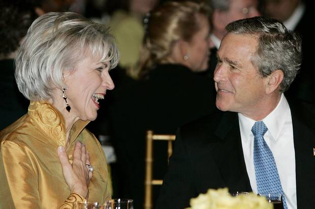 Nov. 30, 2004: U.S. president George W. Bush talks with chief justice McLachlin at an official dinner in Gatineau, Que.