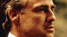 Friends of Canadian Broadcasting insist the ad featuring Stephen Harper is a satirical take on the Oscar-winning 1972 film The Godfather, with the Prime Minister in place of Marlon Brando's much-feared Vito Corleone. (AP/PARAMOUNT PICTURES)