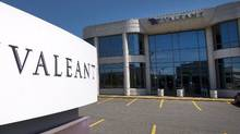 The head office and logo of Valeant Pharmaceutical are pictured in Montreal . (Ryan Remiorz/The Canadian Press)