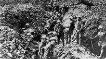 Canadian soldiers in the trenches at Vimy Ridge in 1917 during the First World War. (The Canadian Press/The Canadian Press)