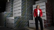 "Elem Rinomato, is the president of Torino Drywall in Toronto, and is shown in the company's Vaughan, Ont. distribution centre. This self-confident woman has risen had great success in what she says is still ""largely a man's world."" (Peter Power/The Globe and Mail)"