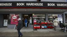 The Book Warehouse store on West Broadway in Vancouver. Owner Sharmin King has announced he is permanently closing all four of the stores's remaining locations. (Jeff Vinnick/The Globe and Mail/Jeff Vinnick/The Globe and Mail)