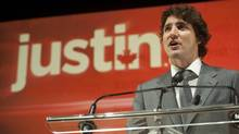 Liberal MP Justin Trudeau announces he will seek the leadership of the party, Oct. 2, 2012 in Montreal. (Graham Hughes/THE CANADIAN PRESS)