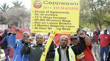 Workers at oil refineries and related industries joined a week-old strike in South Africa raising fears of potential fuel shortages. STEPHANE DE SAKUTIN/AFP/Getty Images) (STEPHANE DE SAKUTIN/AFP/Getty Images)
