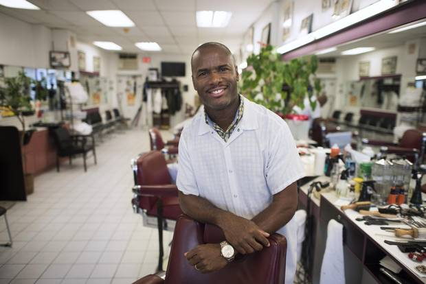 Lenox Mitchell, owner of Lloyd's Barber Shop.