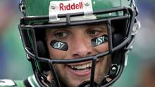 Saskatchewan Roughriders' Andy Fantuz is among several CFLers hoping to make the grade in the NFL. (CP PHOTO/Troy Fleece) (Troy Fleece/CP)