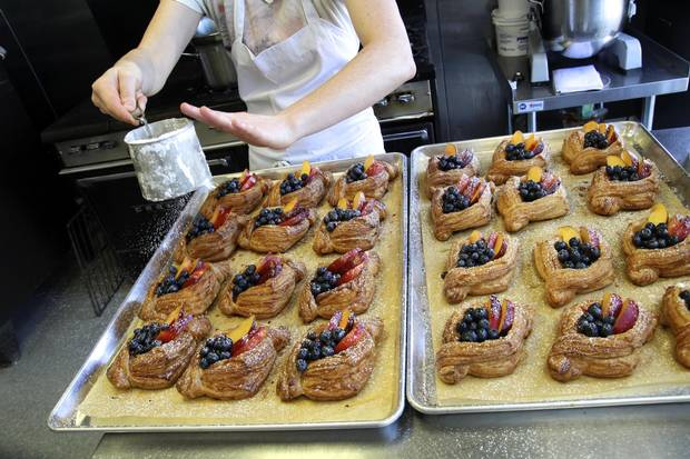 Pastries at Sidewalk Citizen Bakery in Calgary.