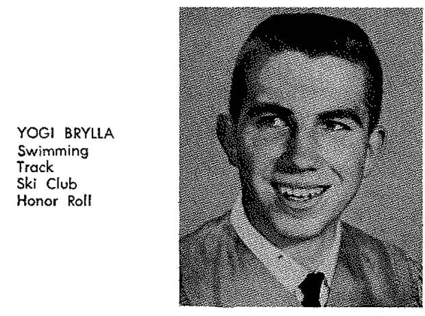 Joerg Brylla in a 1964 yearbook photo.