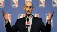 NBA Commissioner Adam Silver speaks during the NBA board of governors meeting (John Locher/AP)