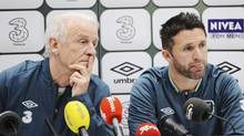 Ireland's national team coach Giovanni Trapattoni and striker Robbie Keane (SCANPIX SWEDEN/REUTERS)