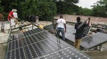 The Solar Electric Light Fund (SELF) supports the use of solar energy as the primary energy source in a growing number of fixed medical facilities in impoverished Haiti and Africa. (Courtesy of SELF/Courtesy of SELF)