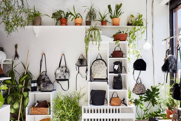 The cleanly displayed leather wares of Eleven Thirty draw customers into the company's downtown Toronto studio, where its bags are also created.