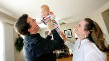 December, 2009. Vancouver, BC. Darrin and Elaina Eden opened a RESP account for their daughter Ava a few weeks after she was born. Photo: Laura Leyshon for the Globe and Mail (LAURA LEYSHON/LAURA LEYSHON)