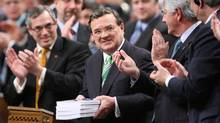 Finance Minister Jim Flaherty holds his budget speech in the House of Commons on Parliament Hill in Ottawa on Tuesday, March 22, 2011. (Sean Kilpatrick/The Canadian Press)