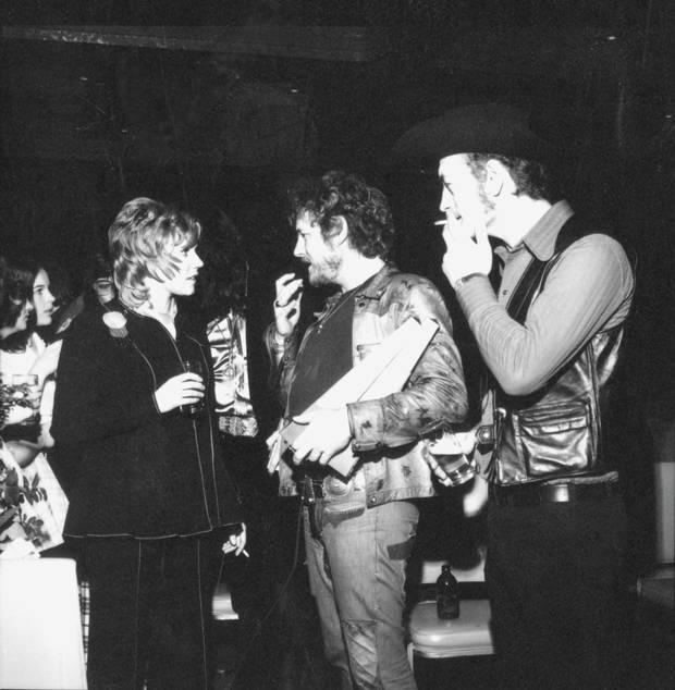 Three pillars of Canadian music: Anne Murray, Gordon Lightfoot, and Stoppin' Tom Connors at the 1973 Juno Awards.