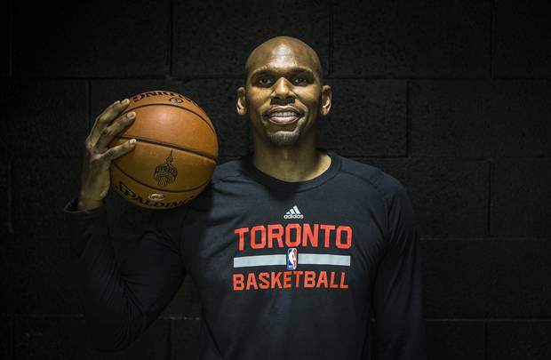 Former NBA player and current Toronto Raptors assistant coach Jerry Stackhouse poses for a portrait in Toronto, Monday December 21, 2015.