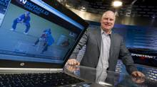 Rogers' Scott Moore inside one of the company's Sportsnet studios. (Peter Power/The Globe and Mail)