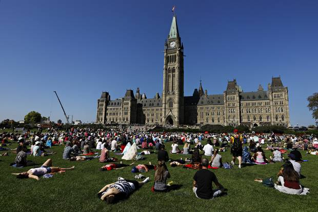 Dr. Kabat-Zinn has never directed nearly 1,000 people in guided meditation – the location, in the shadow of Canada's Parliament Buildings, was so intriguing he flew in at his own expense.