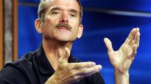 Canadian Space Agency astronaut Chris Hadfield speaks during a news briefing at NASA's Johnson Space Center Sept. 13, 2012, in Houston. Hadfield will be the first Canadian to command the International Space Station. (Pat Sullivan/AP)