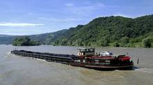 Coal barge on the Rhine (Photos.com)