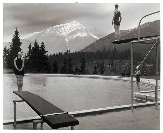 Canadian Pacific Railway, [Swimming pool at Banff Springs Hotel, Alberta], September 1928, gelatin silver print.