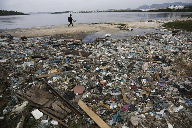 Rio de Janeiro is host to a busy port, a large oil refinery as well as petrochemical and pharmaceutical industries that send polluted runoff into Guanabara Bay, which has 55 rivers that flow into it.