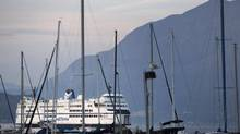A B.C. ferry makes its way into the Horseshoe Bay terminal in September 2007. (John Lehmann/The Globe and Mail)