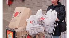 File photo of a Provigo shopper in the Quebec City suburb of Sainte-Foy. (Jacques Boissinot/CP)