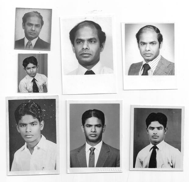 Cathiravelu Bascaramurty, at various stages of his life.