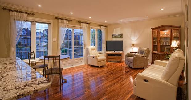A living space in the attached suite at the Ouellette's Ottawa home.