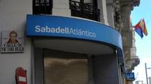 A Banco Sabadell SA bank branch in Madrid. (DENNIS DOYLE/BLOOMBERG/DENNIS DOYLE/BLOOMBERG)