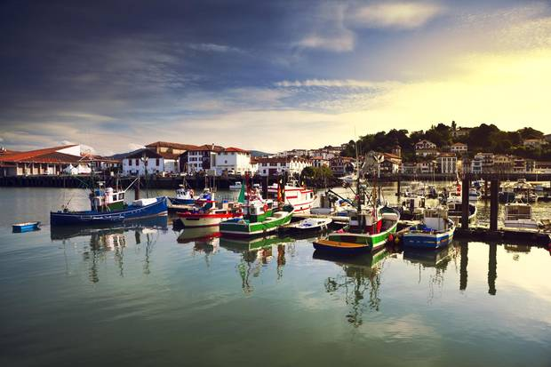 Saint Jean de Luz harbour, a small walkable fishing village, hosted the plush 1660 wedding of King Louis XIV to Spanish Infanta Maria Theresa.
