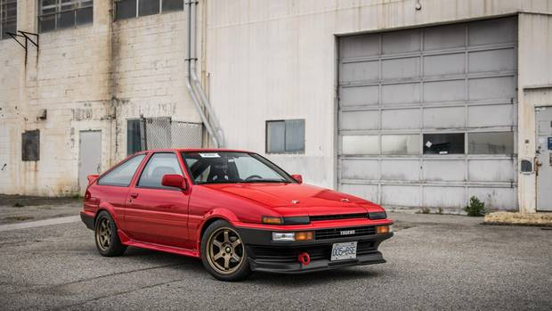 The AE86 is carried high on the shoulders of Japanese car culture thanks to its appearance as one of the central characters in Initial D.