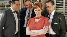 Christina Hendricks, middle, as Joan Holloway Harris in AMC's Mad Men. (HO)
