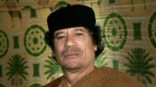 A 2007 file photo of Libyan dictator Moammar Gadhafi. (Leon Neal/The Associated Press/Leon Neal/The Associated Press)