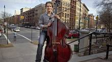 Taddes Korris, a double bass masters student in New York City, was scheduled to audition with the Winnipeg symphony. But the Edmonton native had to cancel the trip because of legislation passed by the Obama administration a few weeks ago declaring the right to confiscate anything that has ivory on it. Including bows. The ivory is a part of the frog of the bow, the part that adjusts the tension, and also forms part of its tip. for The Globe and Mail (NEVILLE ELDER/Neville Elder)