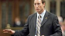 Minister of National Defence Peter MacKay answers questions regarding Afghan detainees during Question Period in the House of Commons on Wednesday November 18, 2009. (Sean Kilpatrick)