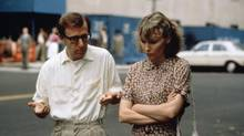Woody Allen and Mia Farrow in Allen's 1986 film Hannah and Her Sisters.