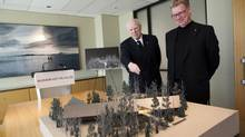 Architect's model of the Audain Art Museum proposed for Whistler, B.C. (Rafal Gerszak for The Globe and Mail)
