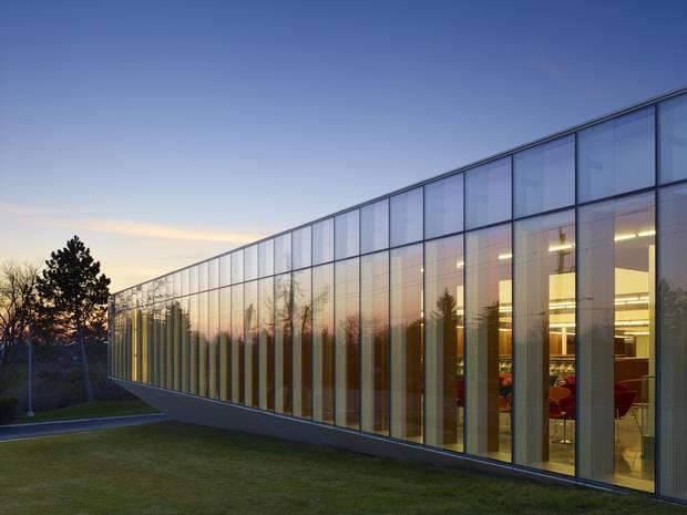 The Library incorporates the Niagara Escarpment into its design.