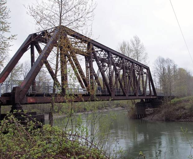 The Snoqualmie bridge that Ronette Pulaski crosses in a daze.