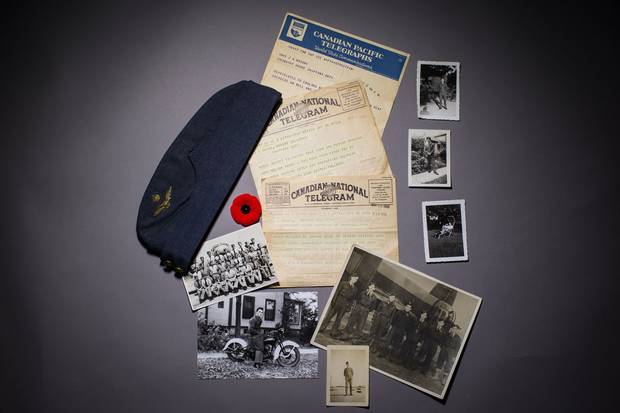 Photos, documents and mementos of Jack Maclean Mason's wartime service.