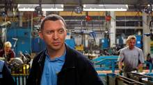 Russian businessman Oleg Deripaska visits the GAZ car factory in Nizhny Novgorod (DENIS SINYAKOV/DENIS SINYAKOV/REUTERS)