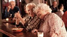 In Cloudburst, Olympia Dukakis (left) and Brenda Fricker play an elderly lesbian couple on the lam from Maine to Nova Scotia to get married. (Shaun Simpson)
