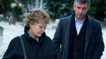Judi Dench, left, and Steve Coogan in a scene from Philomena. (Alex Bailey/AP)